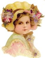 Дівчинка в капелюшку схема для вишивання