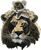 Лев і левенятко схема для вишивання