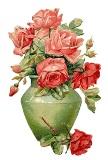 Рози у вазі схема для вишивання