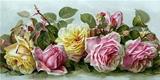 Чудові рози схема для вишивання