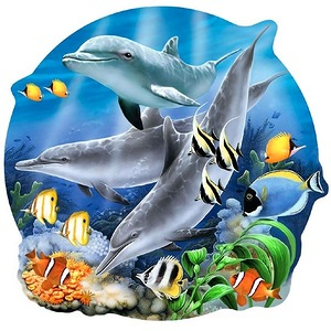 Дельфіни схема для вишивання