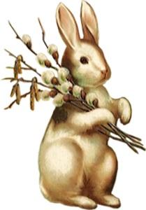 Весняний кролик схема для вишивання
