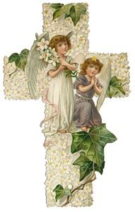 Хрест з ангелами схема для вишивання
