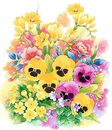 Весняні квіти схема для вишивання