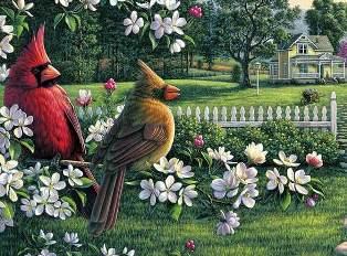 Весна схема для вишивання