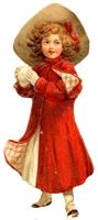 Дівчинка з сніжкою схема для вишивання