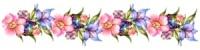 Квітковий бордюр схема для вишивання