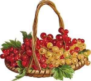 Кошик з ягодами схема для вишивання