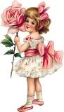 Дівчинка з розою схема для вишивання