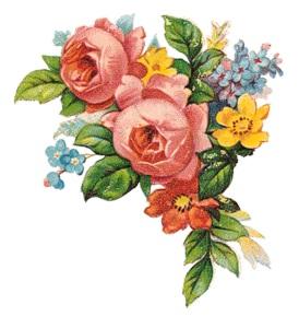 Букетик з розами схема для вишивання