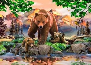 Ведмеді схема для вишивання