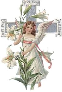 Ангел з хрестом схема для вишивання