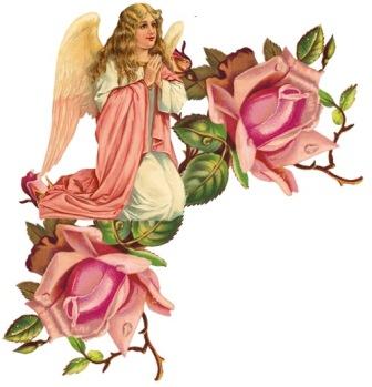 Ангел з розами схема для вишивання