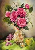 Натюрморт з розами схема для вишивання