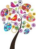 Пасхальне дерево схема для вишивання