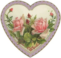 Серце з розами схема для вишивання