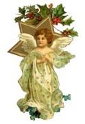 Ангел із зіркою схема для вишивання