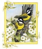 Жовті пташки схема для вишивання