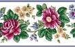 Бордюр з розами схема для вишивання