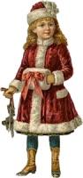 Дівчинка у шубці схема для вишивання