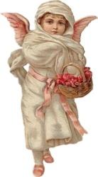 Ангел з кошиком схема для вишивання