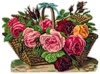 Кошик з розами схема для вишивання