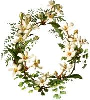 Вінок з білих квітів схема для вишивання