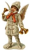 Ангел з дзвіночками схема для вишивання