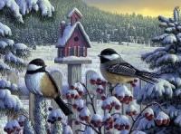 Зима схема для вишивання