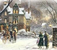 Зимове місто схема для вишивання