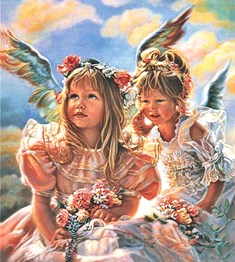 Ангелята схема для вишивання