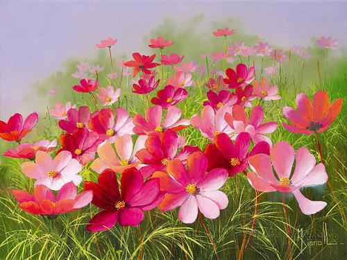 Квіткова поляна схема для вишивання