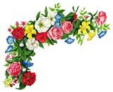 Кутик з літніх квітів схема для вишивання