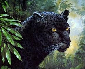 Пантера схема для вишивання