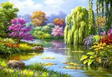 Весняний пейзаж схема для вишивання