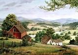 Село в горах схема для вишивання