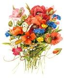 польові квіти в букеті схема для вишивання