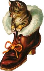Кіт у чобітку схема для вишивання