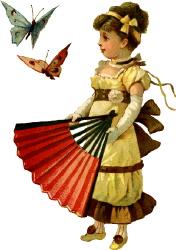 Дівчинка з метеликами схема для вишивання