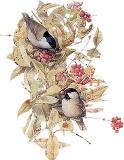 Птахи з ягодами схема для вишивання