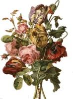 Тюльпани з розами схема для вишивання