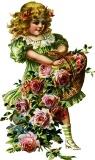 Дівчинка з розами схема для вишивання