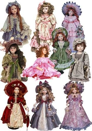 Вінтажні ляльки