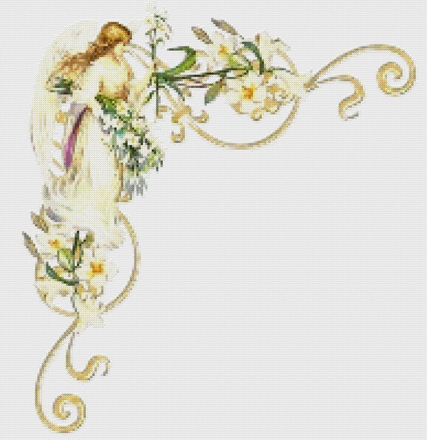вишивка хрестиком схеми ангелів