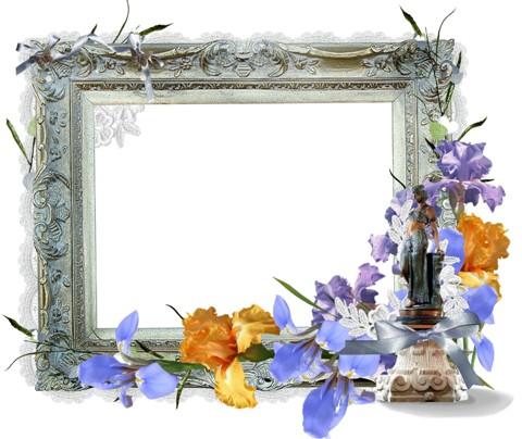 Вінтажна рамка з ірисами для фото