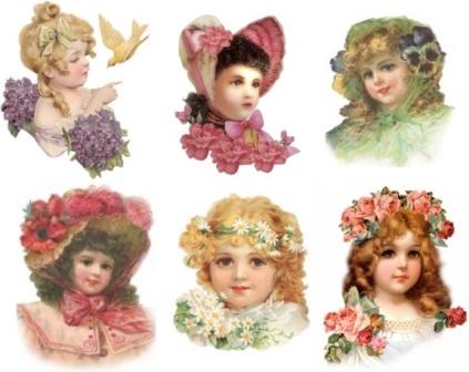 Дівчатка з квітами
