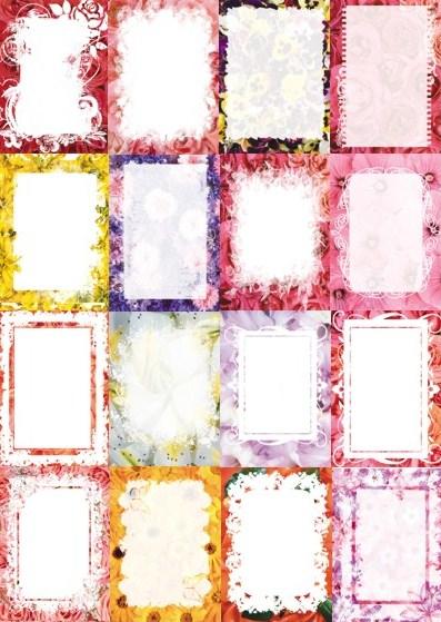Карточки з квітковим фоном