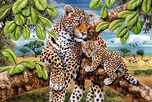 Леопарди схема для вишивання