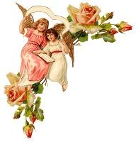 Ангели з розами схема для вишивання