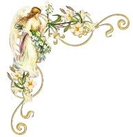 Ангел з ліліями схема для вишивання